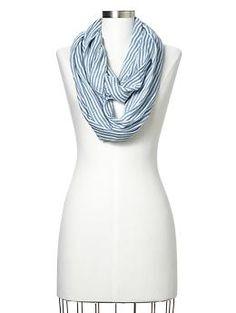 Pinstripe infinity scarf | Gap