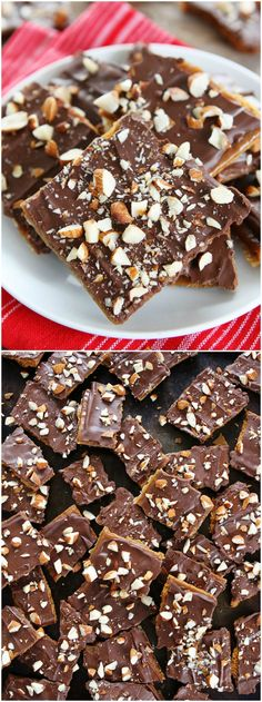 Easy Graham Cracker Toffee Recipe on twopeasandtheirpo. You only need 5 ingredients to make this delicious toffee! It makes a great holiday gift! Graham Cracker Toffee, Graham Cracker Recipes, Graham Cracker Dessert, Graham Cracker Cookies, Holiday Baking, Christmas Desserts, Christmas Baking, Christmas Cookies, Christmas Candy