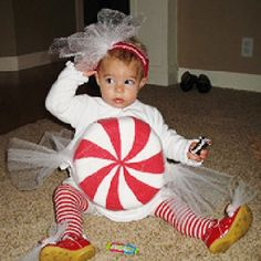 Easy Little Girl Halloween Costumes from Real Moms!: Peppermint Candy (via Parents.com)