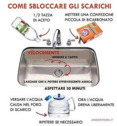 Fatto in casa: Idraulico liquido ecologico per pulire le tubature di scarico…