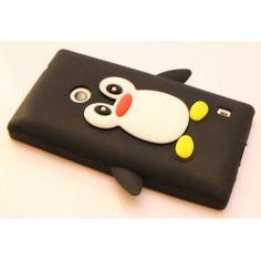 Lumia 520 musta pingviini silikonisuojus. Nokia Lumia 520, Sunglasses Case