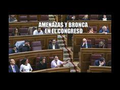 Diputado del PP a la bancada de Podemos: a ver si voy a bajar. Nos vemos las caras. [MACHIRULISMO]