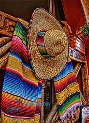 Mexican Sombrero Fiesta Celebration Color Palette Inspiration for Cinco De Mayo