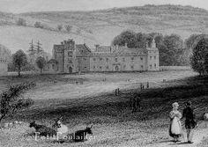 Antique 1834 Georgian England Engraving, Penhurst Castle, Home Sweet Home by PetitPoulailler for $32.85