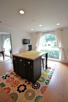 photos of homemade kitchen islands | DIY kitchen island out of cabinets and a countertop. | Kitchen Ideas