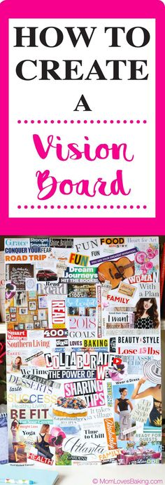 Have you ever wanted to create a vision board? Let me show you how to DIY. Tutorial on MomLovesBaking.com