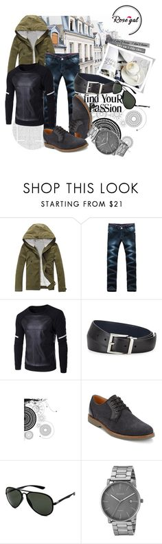 """""""Autumn casual look 50."""" by merimaa997 ❤ liked on Polyvore featuring Prada, G.H. Bass & Co., Ray-Ban, Skagen, men's fashion, menswear, autumn, CasualChic, fallfashion and rosegal"""