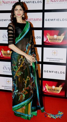 Celeb at the 11th Gemfiells & Nazrana Retail Jeweller India Awards 2015. #Page3 #Fashion #Style #Beauty #Saree #Sari