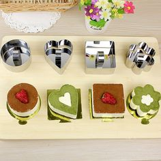 3-inch Stainless Steel Mousse Cake Ring Mold Dessert Slicer Cookie Cutter DIY Baking