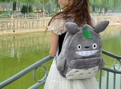 Attention all Totoro lovers! This soft plush backpack is the perfect fit for you or as a gift to someone who is a true Studio Ghibli fan.