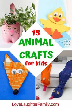 Your kids will enjoy making these animal crafts and bringing their favorite animals to life in craft. Here are 15 animal craft ideas for you to try. Easter Crafts For Toddlers, Animal Crafts For Kids, Crafts For Kids To Make, Toddler Crafts, Preschool Crafts, Snake Crafts, Fox Crafts, Sheep Crafts, Easy Crafts