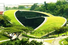 A swirling green roof tops the gorgeous Nanyang Technical University in Singapore | Inhabitat - Sustainable Design Innovation, Eco Architecture, Green Building