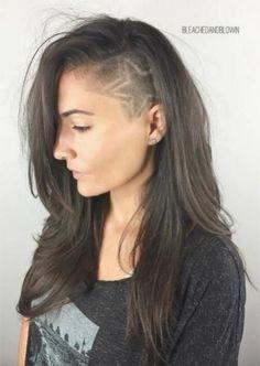 Undercut Hairstyles Women, Shaved Side Hairstyles, Undercut Women, Wavy Bob Hairstyles, Trending Hairstyles, Shaved Undercut, Undercut Long Hair, Side Undercut, Undercut Bob