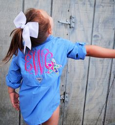 A personal favorite from my Etsy shop https://www.etsy.com/listing/238579406/monogrammed-kids-columbia-fishing-shirt