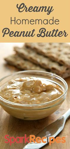 Homemade Peanut Butter  Recipe via @SparkPeople