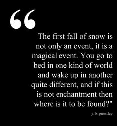 Weather: the first fall of snow ...this is how I felt with the first snowfall each fall
