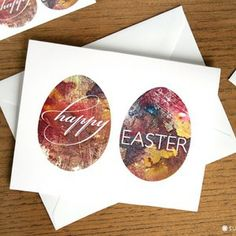 EGG-stra Special on the blog: Download my Happy Easter FREE Printable Greeting & Table Cards #HappyEaster #FREE #Printable #Cards  #Easter #greetings #stationery #design #abstract #art #typography