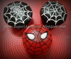 Spiderman cupcake