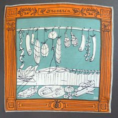 VINTAGE VERA NEUMANN Scarf  Collectible   by ILOVEVINTAGESCARVES, $85.00