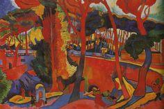 Tableaux sur toile, reproduction de Derain, Turning Road, 129x190cm