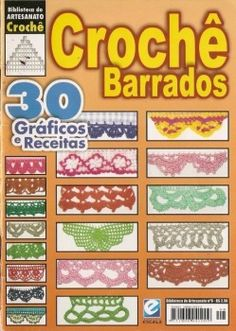 Croche Barrados #crochet edgings #@ Af 12/1/13