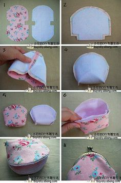 Best Picture For diy purse for kids For Your Taste You are looking for something, and it is going to tell you exactly what you are looking for, and you didn't find that picture. Here you will find the Coin Purse Tutorial, Pouch Tutorial, Diy Coin Purse Pattern, Handbag Tutorial, Patchwork Bags, Quilted Bag, Bag Patterns To Sew, Sewing Patterns, Sewing Crafts