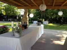 #allestimenti #cocktail reception #parco #piscina #cadelach