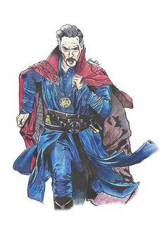 Original signed drawing  Doctor Strange Benedict