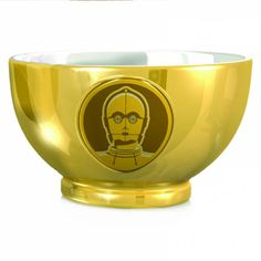 Metallic finish and raised artwork. Measuring over 5 inches in diameter and 3 inches in height. Dishwasher and microwave safe. Officially licensed Disney / Lucasfilm Ltd mer… Emma Bridgewater, Cadeau Star Wars, Minions, Mickey Mouse, Star Wars Boba Fett, Cereal Bowls, Home Decor Furniture, Unique Home Decor, Wall Sticker