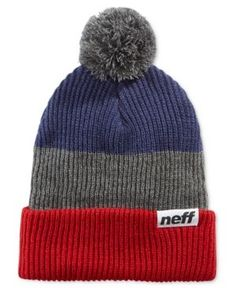 Neff Snappy Ombre Striped Beanie  - Red