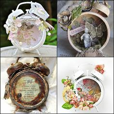 """love the idea of different """"vessels"""" to be altered. old alarms clocks are a good one. credit Flying Unicorn"""