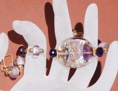 Purple Haze Bracelet by OnlyOneJewelryDesign on Etsy, $38.00
