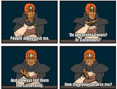 One does not simply speak to Ganon... Or Ganondorf.
