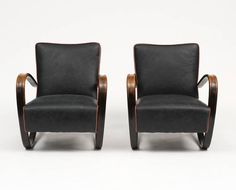 Pair of Armchairs by Jindrich Halabala, 1930s 3