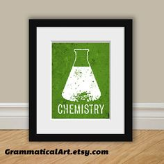 Chemistry Beaker Print  Perfect Science Gift for by GrammaticalArt, $17.00