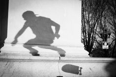 Paul's Shadow by Dave Butterworth - EyeWasHere™ Photography - www.EyeWasHere.net - skateboarding photography - upstate ny - black & white photography - creative photography - unique - Nikon