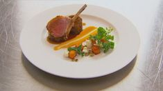 Roasted Lamb Rack and Braised Lamb Neck with Pumpkin and Sheeps Milk Feta