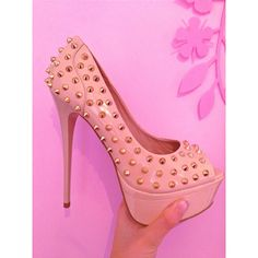 Studded blush platforms