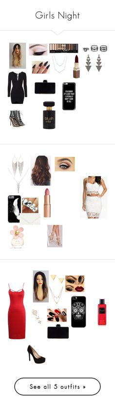 """""""Girls Night"""" by jeweljh on Polyvore featuring Topshop, Gianvito Rossi, Casetify, House of Harlow 1960, LULUS, Lauren Conrad, Fashion Fair, Forever 21, WithChic and Jules Smith"""