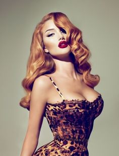Pinup Girl by Charlotte Walker. I love her hair.. the length, the lipstick. shes gorgeous.I want that dress!