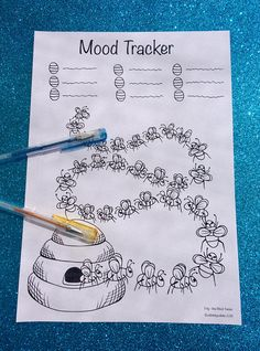 Bee Mood Tracker PDF to print and color