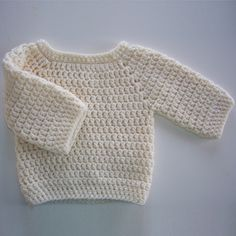 Crochet For Children: Baby Bumpy Sweater - Free Pattern