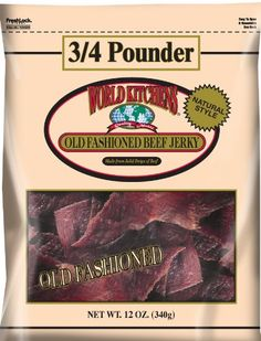 TOPSELLER! World Kitchens Old Fashioned Beef Jerky, 12-Ounce Bags (Pack of 2) $23.12