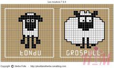 Shaun the sheep! Sheep Cross Stitch, Cross Stitch Animals, Cross Stitch Embroidery, Cross Stitch Patterns, Knitting Charts, Baby Knitting, Knitting Patterns, Crochet Cross, Crochet Home