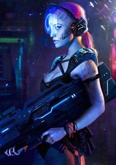 World of cyberpunk, Nana Dhebuadze on ArtStation
