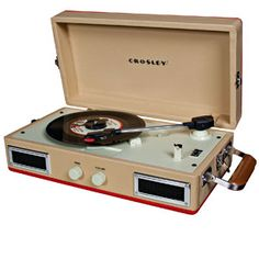 $86.00 Crosley CR40 Portable #Turntable Detailed Description belt driven, plays 33,45 & 78 yes 7 Item No: 58336
