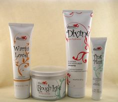 Divine skin hydrator,rough love body scrub,Warm love pumpkin masque,Tint plus tinted moisturizer