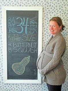 Loughs in Love: 34 WEEKS PREGNANT, BABY BUMP, PREGNANCY CHALKBOARD, PREGNANCY TRACKER, THIRD TRIMESTER