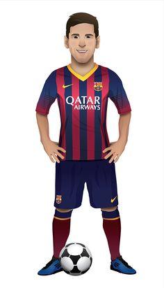 Football stars on Behance
