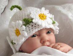 Daisy baby hat.